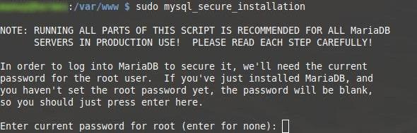 mysql secure installation