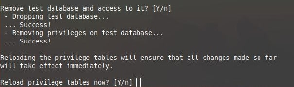 mysql secure installation 6