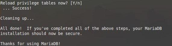 mysql secure installation 7