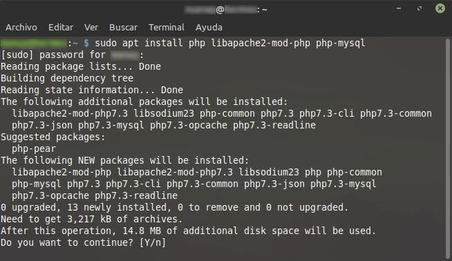 apt install php